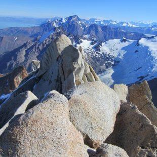 Vistas desde la cima de la Aguja St. Exupery (macizo del Fitz Roy