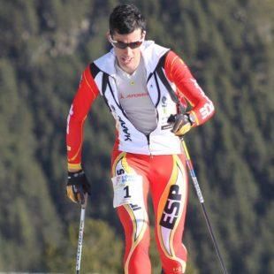 Kilian Jornet en la prueba de Vertical Race celebrada en Andorra (Arinsal). Primera prueba de la Copa Mundo Esquí de Montaña 2012