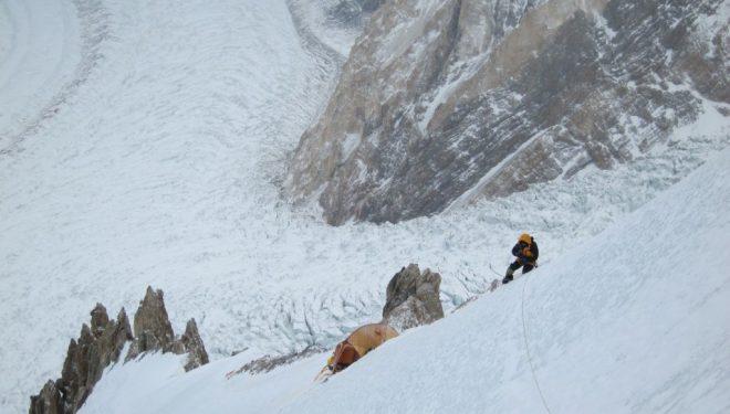 Álex Txikon de vuelta desde el C1. Gasherbrum 1 Invernal  ()
