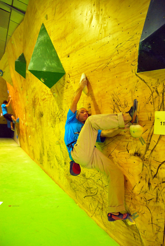Israel Olcina en el Open The Climb (Eva Martos) - Desnivel.com