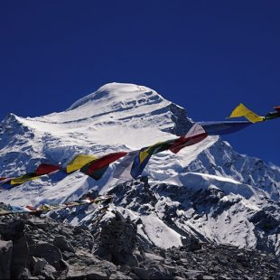 Vista del Cho Oyu (8.201 m).  (Foto: Colección Juan Oiarzabal)