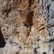 Durante la prueba de escalada en roca de los candidatos al EEA.  (FEDME)