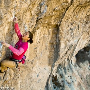 Caroline Ciavaldini escala en Tres Ponts  (Francisco Taranto JR)