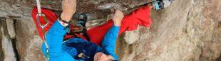 Rustam Gelmanov en Action directe 9a (Frankenjura)  (Anna Piunova / www.mountain.ru)