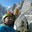 Andrea Guerzoni y Dario Sandrini en el Adamello (Italia)  (Col. A. Guerzoni)