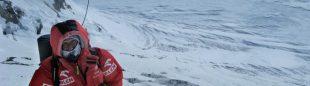 Janusz entrando el Corredor de los Japoneses del Gasherbrum 1.  (Artur Hajzer)