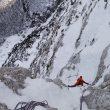 David Lama en la apertura de la Lama-Ortner en la cara norte del Loksa Stena (Alpes Julianos