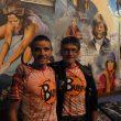 Chemari Bustillo y el Capi Juanjo Alonso en la librería desnivel durante la conferencia sobre el raid Tierra Viva Expedition Race  (JacoboGómez/Desnivel)