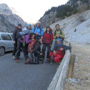 El Equipo Femenino de Alpinismo 2012-2014 con Oriol Baró