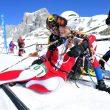 Travesía Andrés de Regil-Copa BBK 2012. Campeonato de España de Esquí- Alpinismo 2012. Júbilo Catalán en la meta. Las cadetes Laura Balet y Laura Gorina  (Santi Yañiz)