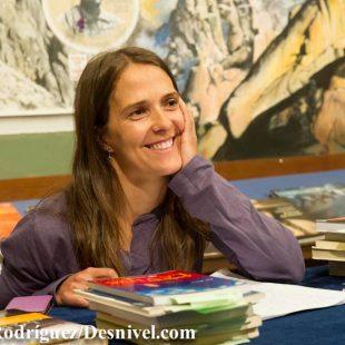Pati Blasco en el Taller de Escritura organizado el día del libro en la Librería Desnivel  (DaríoRodríguez/Desnivel)