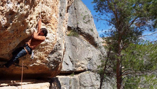 Dani Fuertes escalando en Margalef  (Dani Moreno)