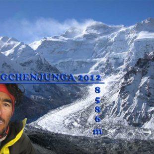 Imagen de la página web de Martín Ramos durante la expedición al Kangchenjunga 2012  (Martín Ramos)