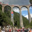 Fiesta con motivo de la declaración del Ferrocarril Rético como Patrimonio de la Humanidad en el 2008.  (Andy Mettler. Turismo Suiza)