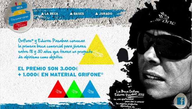 Cartel con las bases de la Beca Grifone® by Edurne Pasabán  ()