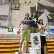 Podio femenino de la segunda prueba Copa España Escalada