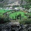 El singular viaducto en espiral de Brusio.  (Juerg Stauffer. Turismo Suiza)
