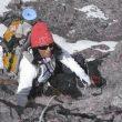 Rosa Fernández ascendiendo al campo 1 del Annapurna