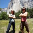 Jes Meiris y Quinn Brett ante la proa de El Capitan (Yosemite) (Steven M. Bumgardner / yosemitesteve.com)