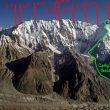 La arista Mazeno del Nanga Parbat con los campamentos marcados  (Mazenoridge.com)