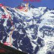 La ruta Kinshoffer de la vertiente Diamir por donde Rick y Sandy descendieron  ()