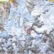 Mapa de la zona del macizo del Mont Blanc donde se ha producido la alud  ()