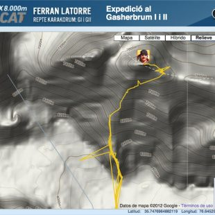 El racetraker de Ferran indica que han hecho cumbre en el Gasherbrum 2  (ferranlatorre.com)