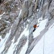 Andy Houseman durante el primer día de escalada en la Slovak direct al Denali  (Nick Bullock)