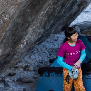 Ashima Shiraishi en Rocklands  (Chasing Winter)