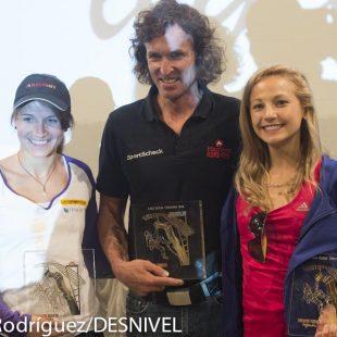 Los tres premiados Rock Legends 2012: Anna Störn -La Sportiva Competition Award-