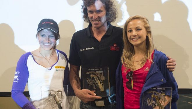 Los tres premiados Rock Legends 2012: Anna Störn -La Sportiva Competition Award-