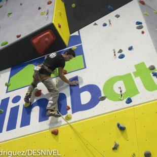 Ramón Julián Ramonet en la inauguración de la nueva sala :Climbat Slab en Reus. ()
