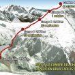 Mapa y plan de ascensión.  (Expedición BBVA Carlos Soria Dhaulagiri 2012)