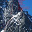 Croquis de Full love a la Aiguille du Peigne (Chamonix)  (Col. J. Mercier)