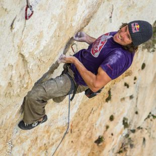 Stefan Glowacz en Golden shower (Verdon)  (Klaus Fengler / RedChili.de)