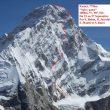 Línea de Spicy game a la cara oeste del Kamet (Himalaya indio)  (GMHM)