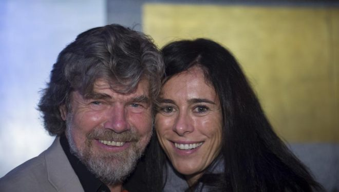 Reinnold Messner y Edurne Pasabán en el IMS 2012.  ()