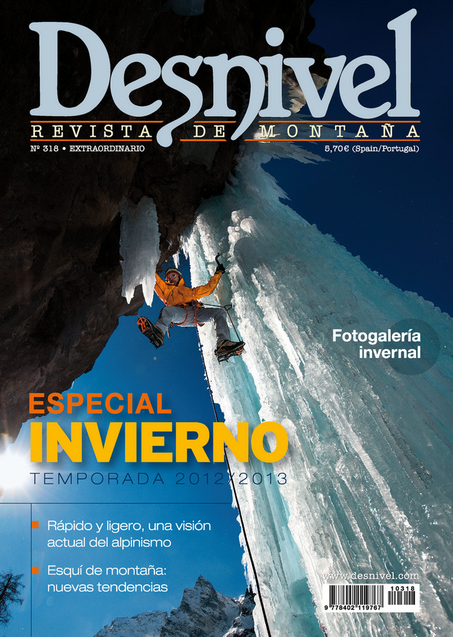 Portada de la revista Desnivel nº 318 Especial Invierno 2012-2013. ALTA  (Ediciones Desnivel)