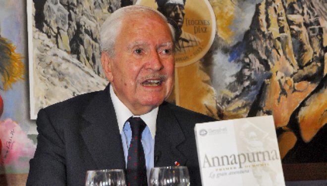 Maurice Herzog en la Librería Desnivel  (Sergio Prieto.)