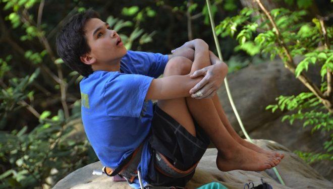 El joven escalador californiano Mirko Caballero (11).  (www.mirkocaballero.com)