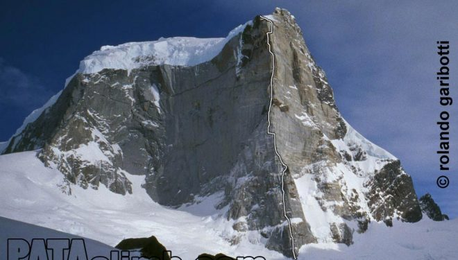 El Cerro Murallón con su Pilar del Sol Naciente.  (Cortesía Pataclimb.com)