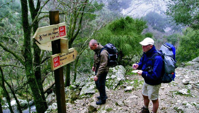 La Ruta de Pedra en Sec está señalizada como sendero de gran recorrido.  (Consell de Mallorca)