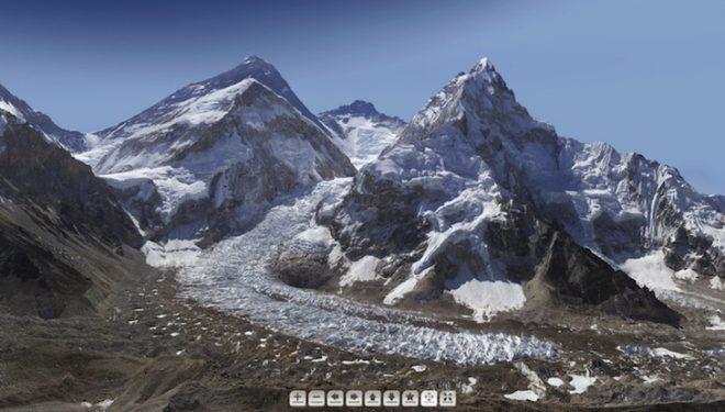 Panorámica del glaciar del Khumbu. En segundo plano