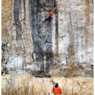 Chris Sharma prueba su proyecto en Oliana  (Daila Ojeda)