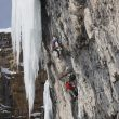 Albert Leichtfried y Benedikt Purner en Senza piombo M10 de Val Lunga (Dolomitas) (Col. A. Leichtfried)