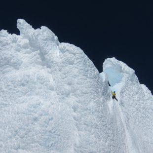Hongo somital del Cerro Torre por la ruta Ferrari.  (Hermanos Pou)