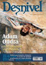 Portada de la revista Desnivel nº 321. Marzo 2013. Confesiones de Adam Ondra. ALTA  ()