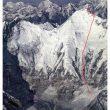 Línea prevista de la nueva ruta en el Everest de Gleb Sokolov y Alexander Kirikov  (Russianclimb.com)