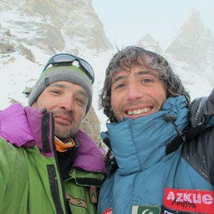 José Manuel Fernández y Álex Txikon en el Laila Peak  (Col. A. Txikon)