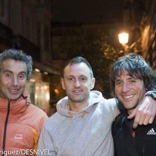 Los tres miembros de la expedición: José Carlos Tamayo